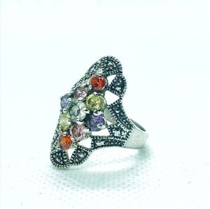Charming Charlie Jewelry - Multi-colored Fashion Gem Stone Ring